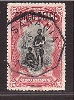 CONGO BELGE 1908 O. Hexagonale Sakania S/ 5frs Surcharge (Type ?). - 1894-1923 Mols: Used