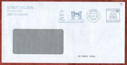 Brief, Frama A903089, Hundertwasser-Architektur Projekt, 62 C, Uelzen 2015 (73412) - Poststempel - Freistempel