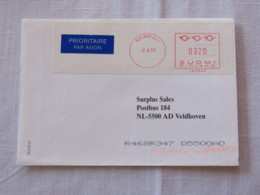 Finland 2001 Cover Naantali To Holland - Machine Franking - Finland