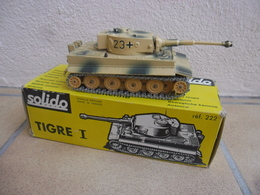 SOLIDO - CHAR TIGRE 1 German Tiger Afrika Korps Made In France Ref. 222 B échelle 1:50 Tank Blindé Métal @ No China ! - Tanks