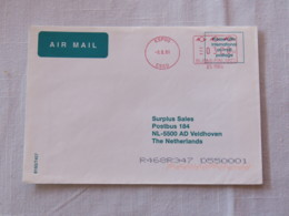 Finland 2001 Cover Espoo To Holland - Machine Franking - Finland