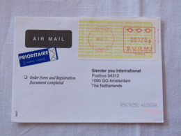 Finland 2001 Cover Helsinki To Holland - Machine Franking - Finland