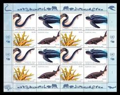 United Nations (Vienna) 2019 Mih. 1051/54 Endangered Species Of Marine Fauna (M/S) MNH ** - Vienna – International Centre