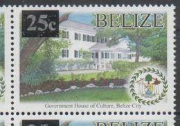 BELIZE, 2016, MNH, DEFINITIVE, GOVERNMENT HOUSE, OVERPRINT, 1v - Architecture