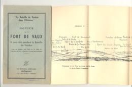 Notice Sur Le Fort De VAUX Pendant La Bataille De Verdun - Guerre 14/18 (b250) - Guerre 1914-18