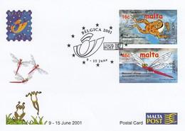 GOOD MALTA Postal Stationery 2001 - Europa / Nature - Malta