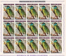 Guinea Ecuatorial Nº Michel 952 En Hoja De 15 Sellos - Guinea Ecuatorial
