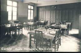 Corbie Ecole Menagere Sainte Colette Carte Photo - Corbie