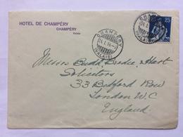 SWITZERLAND - 1914 Cover - Champery To London With Hotel De Champery Cachet - Svizzera
