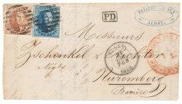 1858  BRIEFFRONT COB 11A(?) + 12A(?) V. ALOST  N. NUREMBERG Zie Scan(s) - 1858-1862 Medallions (9/12)