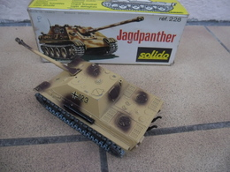 SOLIDO - CHAR GERMAN WWII JAGDPANTHER Canon Mobile Made In France Ref. 228 échelle 1:50 Tank Blindé Métal @ No China ! - Chars
