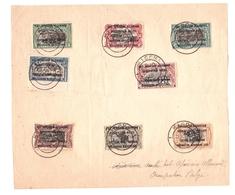 RUANDA 1916 ( Congo Belge ) Série Obl.  KIGOMA Sur Doc. - 1916-22: Oblitérés