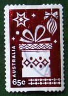 65 C Christmas Kerst Noël Weihnachten Self Adhesive Gift 2014 Used Gebruikt Oblitere Australia Australien / Australie - 2010-... Elizabeth II
