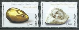 Roumanie YT N°5147/5148 Constantin Brancusi (Emission Commune Avec La France) Neuf ** - Emissions Communes