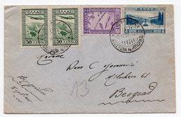 1933 GREECE, AIR MAIL, ATHENS TO BELGRADE - Greece