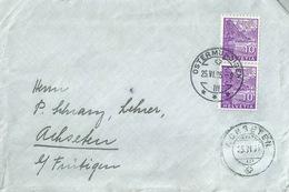 Brief  Ostermundigen - Achseten B.Frutigen  (Rollenfrankatur)          1935 - Lettres & Documents