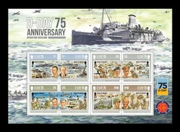 Isle Of Man 2019 Mih. 2465/72 World War II. D-Day. Ships. Planes. Tanks (M/S) MNH ** - Isle Of Man