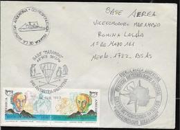 AANT-199 ANTARCTIC ANTARCTICA 1992-3 ARGENTINA MARAMBIO STATION METEOROLOGY SERVICE COVER - Bases Antarctiques