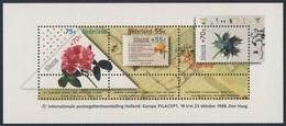 """Nederland Netherlands Pays Bas 1988 B 31 YT B31 SG 1542 ** Narcissus, Rosa, Eryngium Maritimum - """"Filacept '88"""" Den Haag - Filatelistische Tentoonstellingen"""