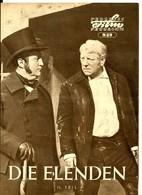 "JEAN GABIN In ""LES MISÉRABLES"" France 1957 2 East German Original Film Programs - Film & TV"