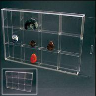 Safe Klein-Vitrine Aus Acryl-Glas - 12 Fächer - Fossilien