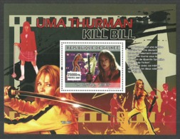 GUINEA 2007 FILMS CINEMA KILL BILL UMA THURMAN TARANTINO M/SHEET MNH - Guinea (1958-...)