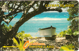 CAYMAN ISL.(GPT) - Boat On Beach, CN : 6CCIB, Tirage 20000, Used - Isole Caiman