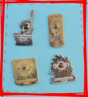 Lot 4 Pin's Arthus Bertrand, Sucre CANDEREL, 2 Scans, Frais De Port France 2,20 € - Arthus Bertrand