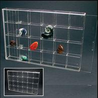 Safe Klein-Vitrine Aus Acryl-Glas - 24 Fächer - Fossilien
