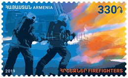 Armenia Arménie Armenien 2019 Mi 1113 Firefighters Fighting Against The Fire Water And Fire MNH** - Armenië