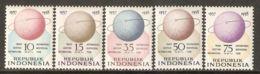 Indonesia 1958 Mi# 224-228 ** MNH - International Geophysical Year / Space - International Geophysical Year