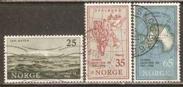 Norway 1957 Mi# 411-413 Used - Intl. Geophysical Year - International Geophysical Year