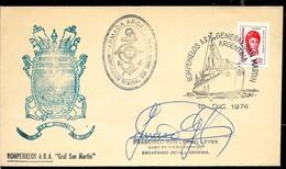 AANT-204 ANTARCTIC ANTARCTICA 1974 ARGENTINA SHIP,ICEBREAKER GRAL SAN MARTIN,SIGNED - Expéditions Antarctiques