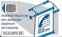 CARTE-PUBLIC-600 AGENCES-50U-Te18B.510-SC5An-OFFSET GLACE-Trou 7--5N°Pe 24220-UTILISE-TBE-RARE - Frankrijk