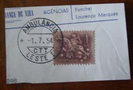 Marcofilia – Ambulância Leste I – 1.7.1954 – Cavalinho - Marcofilia
