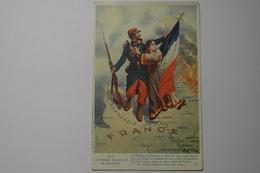 CPA 1914 La France Accueille La Belgique - DAK14 - Guerre 1914-18