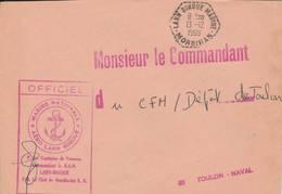 "LANN BIHOUE MARINE  - 1969  - Cachet  ""AERO LANN  BIHOUE   "" - Storia Postale"