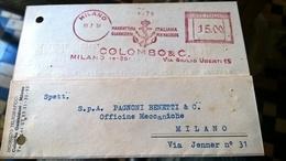 EMA MILANO 1951 COLOMBO - Affrancature Meccaniche Rosse (EMA)