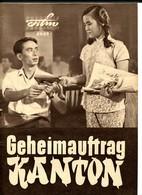"Chinese Movie ""YANG CHENG AN SHAG"" 1958 Original East German Film Program 89/59 - Films & TV"
