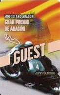 TARJETA GRAN PREMIO ARAGON JOHN SURTEES - Unclassified