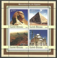 GUINEA BISSAU 2003 EGYPT ART ARCHITECTURE PYRAMIDS SPHINX M/SHEET MNH - Guinea-Bissau