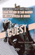 TARJETA GRAN PREMIO DI SAN MARINO MARCO SIMONCELLI - Unclassified
