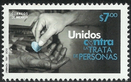 2012 MÉXICO Unidos Contra La Trata De Personas, MNH CAMPAIGN  AGAINST HUMAN TRAFFICKING, HEALTH, HANDS - México