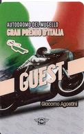 TARJETA GRAN PREMIO DI ITALIA GIACOMO AGOSTINI - Unclassified