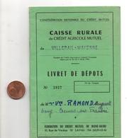 Livret De Dépots à La Caisse Rurale Du Crédit Agricole Mutuel De VILLEPAIL MAYENNE En 1968, - Shareholdings