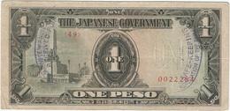 Filipinas - Philippines 1 Peso 1943 Pk 109 A.2.1 Sello Ref 4 - Philippinen