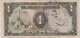 Filipinas - Philippines 1 Peso 1943 Pk 109 A.2.1 Sello Ref 7 - Philippinen