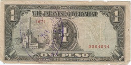 Filipinas - Philippines 1 Peso 1943 Pk 109 A.2.1 Sello Ref 8 - Philippinen