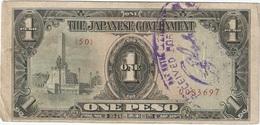 Filipinas - Philippines 1 Peso 1943 Pk 109 A.2.1 Sello Ref 9 - Philippinen