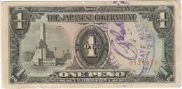Filipinas - Philippines 1 Peso 1943 Pk 109 A.2.1 Sello Ref 10 - Philippinen